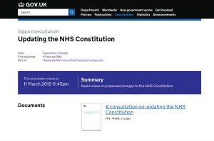 NHS Constitution consultation